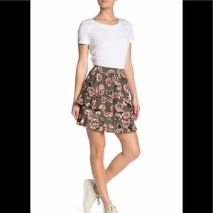 NWT LOVE MOSCHINO Allover Roses Skirt
